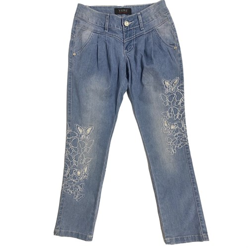 Брюки (джинс) для девочки (р.116,128,134,140) - фото 36296