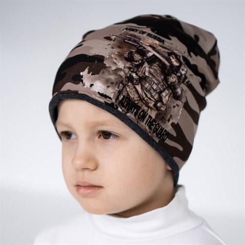 ambra шапка двойной трикотаж камуфляж (р.52-54) - фото 36309