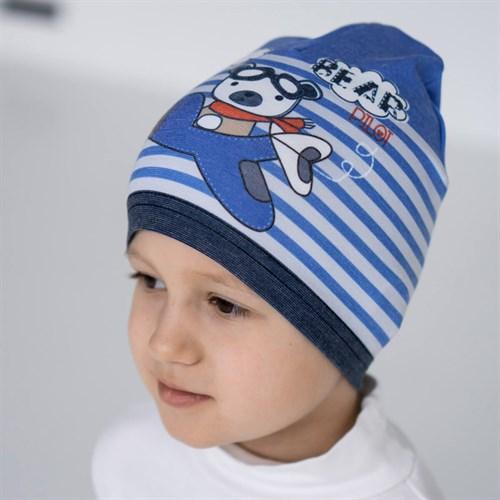ambra шапка одинарный трикотаж (р.48-50) Bear - фото 36334