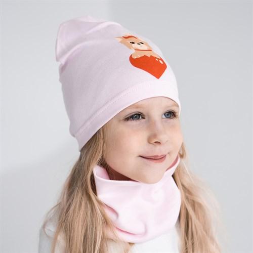 Milli комплект 18-607 k шапка одинарный трикотаж + снуд (р.50-54) - фото 36384