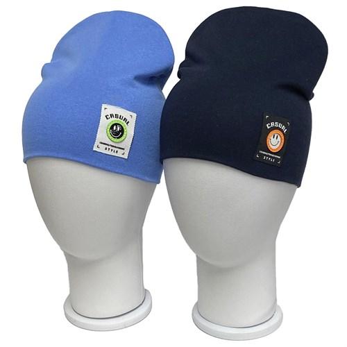 LAMIR шапка Смайлик двойной трикотаж  (р.52-54) - фото 36418