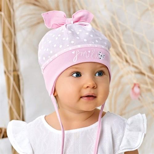 AJS шапка 42-261 с завязками, хлопок  (р.40,42,44,) - фото 36558