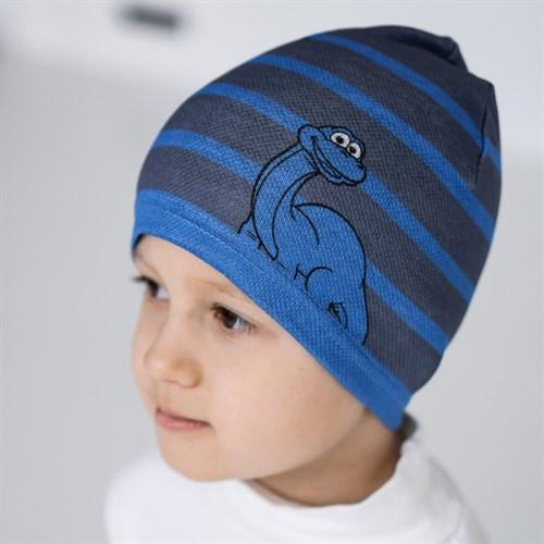Milli  Дино шапка одинарный трикотаж  (р.48-50) - фото 36675