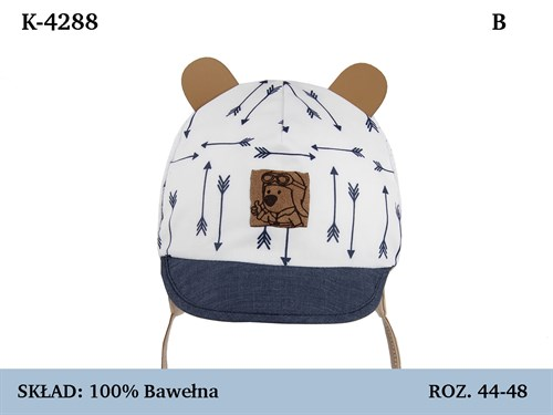 Magrof кепка 4288 с сеточкой, с завязками (р.44-50) - фото 37130