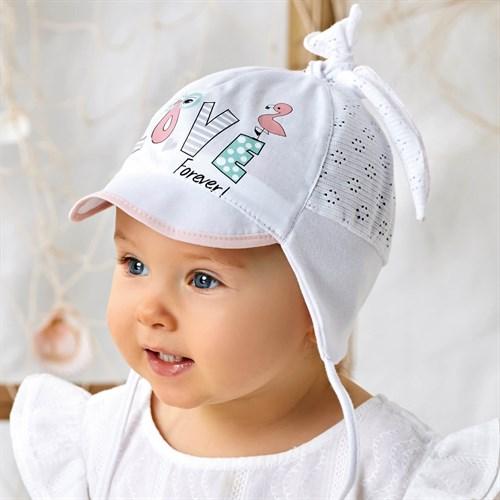 AJS кепка 42-256 с завязками, хлопок с сеточкой (р.40,42,44) - фото 37232