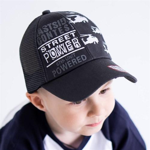 Milli бейсболка детская Street POWER (р.50-52) с сеткой - фото 37332