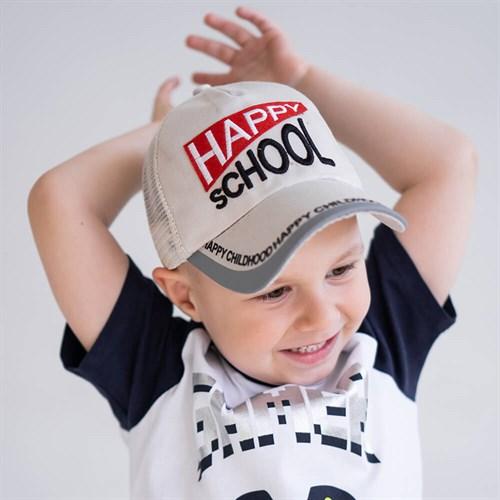 Milli бейсболка детская Happy Scool (р.50-52) с сеткой - фото 37334