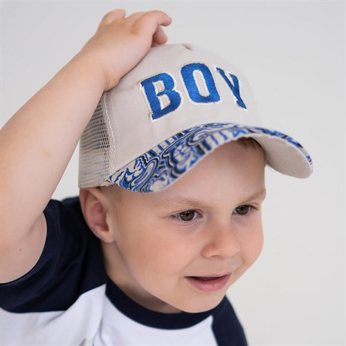 Milli бейсболка детская BOY (р.50-52) с сеткой - фото 37355