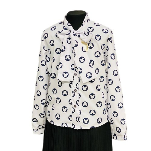 Catherine блузка длинный рукав, прямая, белая (р.128-158) - фото 37781