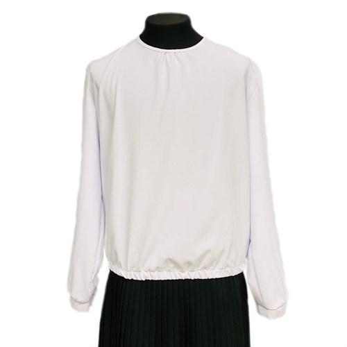 Catherine блузка длинный рукав, на резинке, белая (р-ры128-158) - фото 37822