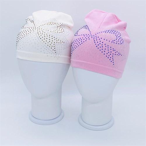 шапка одинарный трикотаж (р.50-52) бант - фото 37861