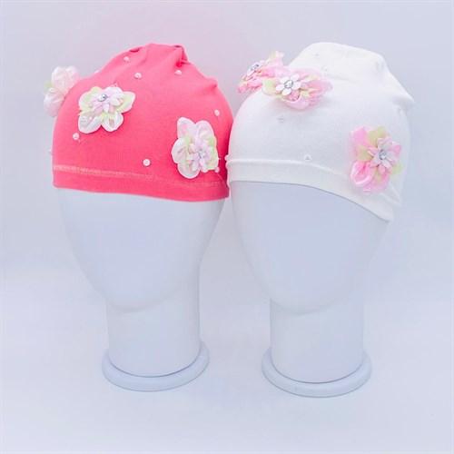 шапка одинарный трикотаж (р.50-52) цветы - фото 37868