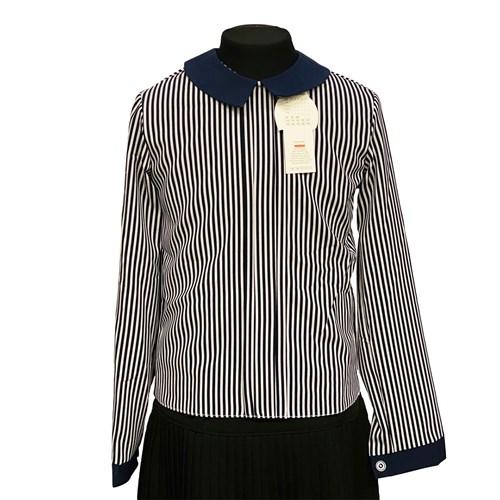 Catherine блузка длинный рукав, прямая, полоска (р.128-158) - фото 37939