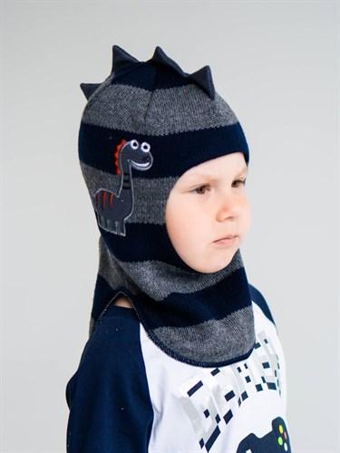 Milli шлем модель Дракоша, на утеплителе  (на 1год) зима - фото 38118