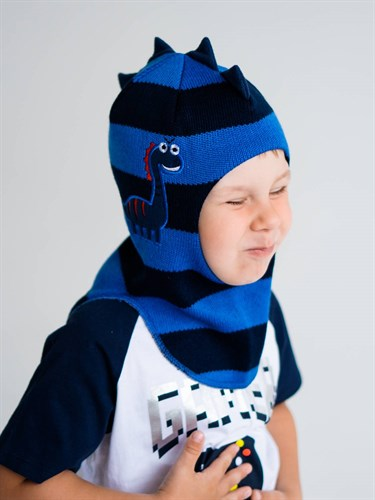 Milli шлем модель Дракоша, на утеплителе  (на 4 года) зима - фото 38134