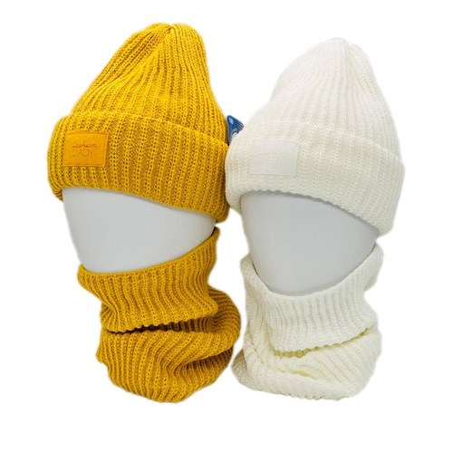 Grans комплект BM 71 P шапка вязаная, подклад флис +снуд (р.52-54) - фото 38315