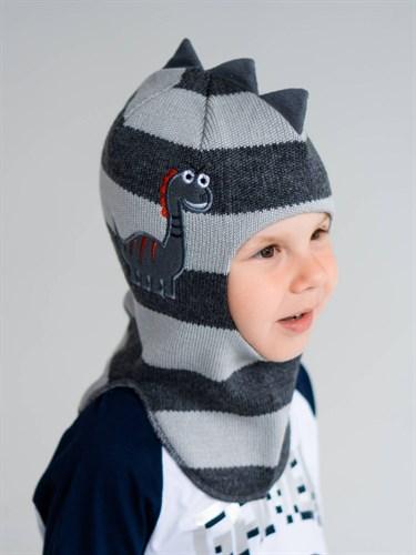 Milli шлем модель Дракоша, на хлопке (на 1год) демисезонный - фото 38478