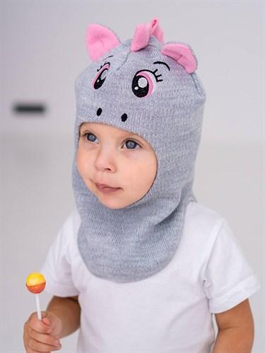 Milli шапка-шлем Единорог, на хлопке (на 2 года) демисезонный - фото 38591