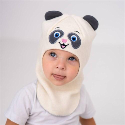Milli шлем модель Панда, на хлопке (на 2 года) демисезонный - фото 38623