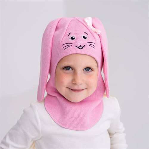 Milli шлем Зайчик, на хлопке (на 4 года) демисезонный - фото 38797