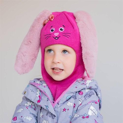 Milli шлем модель Зайчик, на утеплителе (на 6 лет) зима - фото 39416
