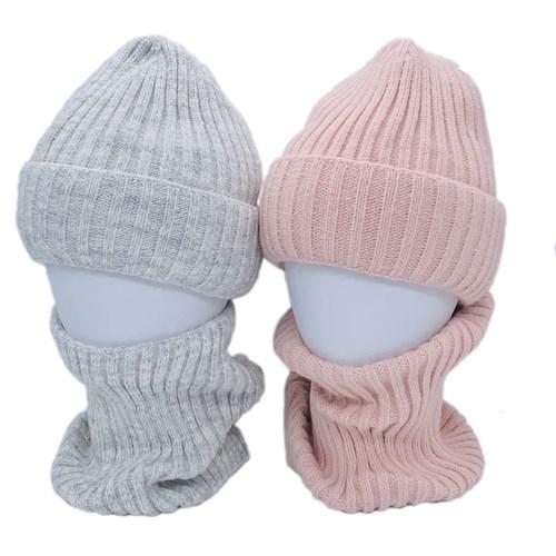 AGBO комплект 2905 Wiza шапка вязаная, подклад флис + снуд (р.50-52) - фото 39802