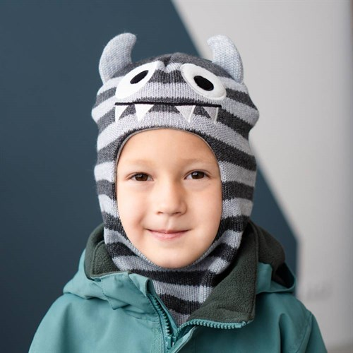 Milli шлем модель Зубастик, на утеплителе (на 6 лет) зима - фото 40017