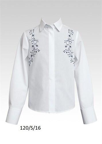 SLY модель 120 блузка длинный рукав, вышивка, белая (р.134-164) 6 шт. - фото 4788