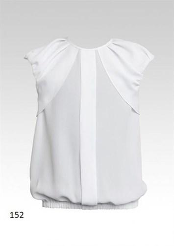 SLY модель 152 блузка белая кор.рук. (р-ры128-164) 7 шт. - фото 4791