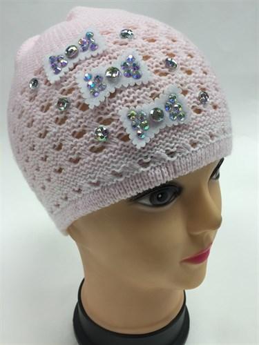 AGBO шапка ажурная вязка  - фото 4860