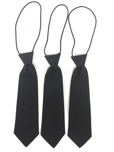 галстук черный 29см - фото 4980