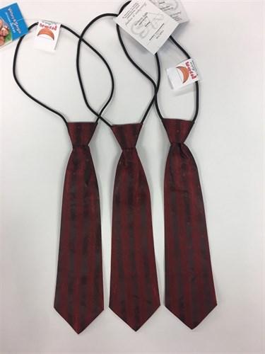 галстук бордо 24см - фото 4985