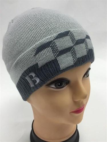 amal модель 005 шапка для мальчика одинарная вязка(кубики) - фото 5016