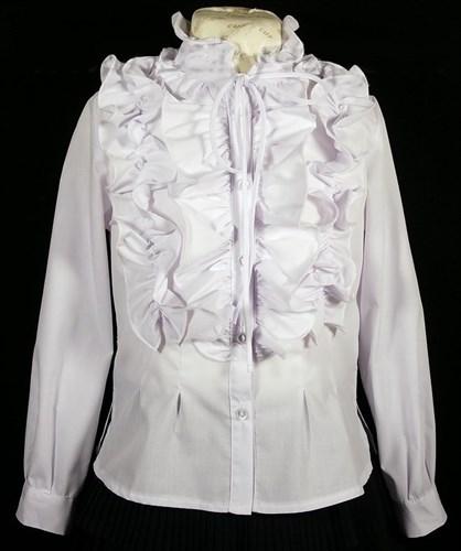 MAGICjunior модель 402 блузка длинный рукав, белая (р.158) - фото 5037