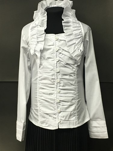 WhiteRose блузка дл.рук. ворот-жабо (р.128-158) в уп. 6 шт. - фото 5091