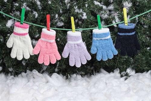 margot перчатки PUCHATKI одинарная вязка букле (размер 14) - фото 5358