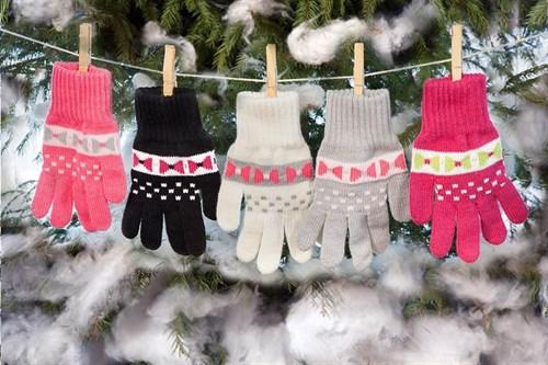 margot перчатки KARINA одинарная вязка (размер 17) - фото 5395