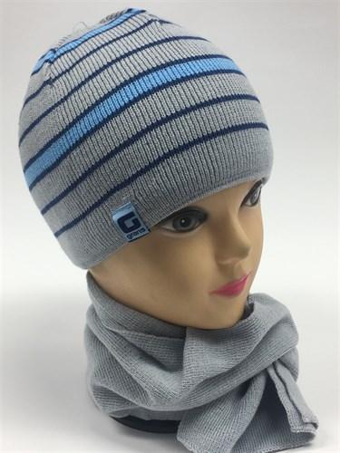 GRANS комплект A 470 шапка подкл.флис+шарф (р.42-44) - фото 5844