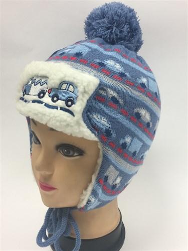 artex шапка подкл.мех + шарф (р.46-48) - фото 6416