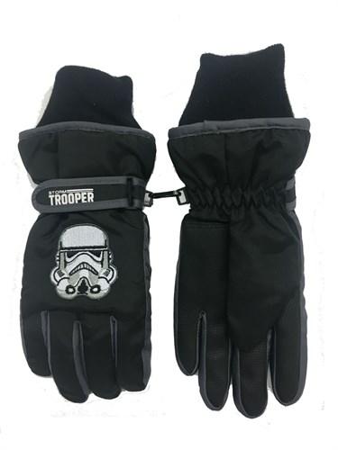 перчатки для мальчика (7-9 лет) робот черный - фото 6580