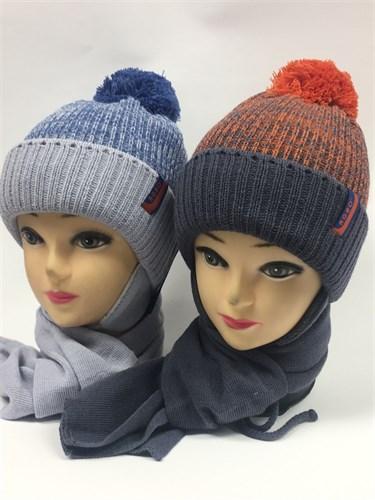 AGBO комплект 1273 IRYS шапка подкл.флис + шарф (р.46-48) - фото 6655