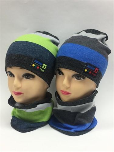 ambra комплект шапка дв.трикотаж + снуд (р.50-54) - фото 6736