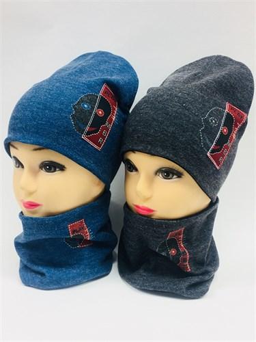 ambra комплект шапка дв.трикотаж + снуд (р.50-54) - фото 6890