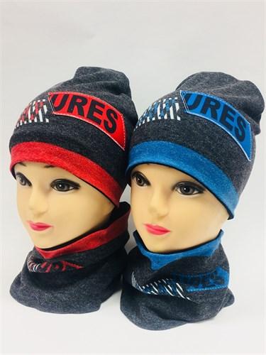 ambra комплект шапка дв.трикотаж + снуд (р.50-54) - фото 6894