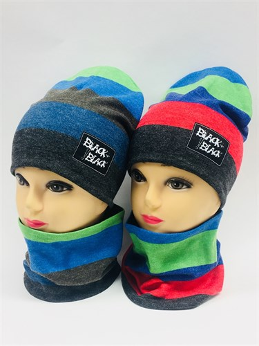 ambra комплект шапка дв.трикотаж + снуд (р.50-54) - фото 6898
