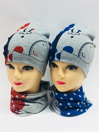 ambra комплект шапка двойной трикотаж + снуд (р.48-50) - фото 7030