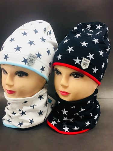 Jamiks комплект 17176 шапка двойн.трикотаж + снуд (р.50-52) - фото 7035