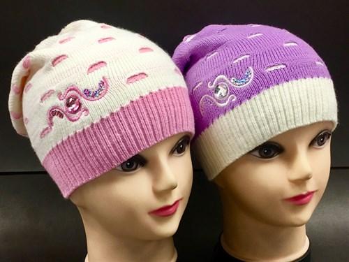 AGBO шапка для девочки одинарная вязка  (р.52-54) - фото 7157