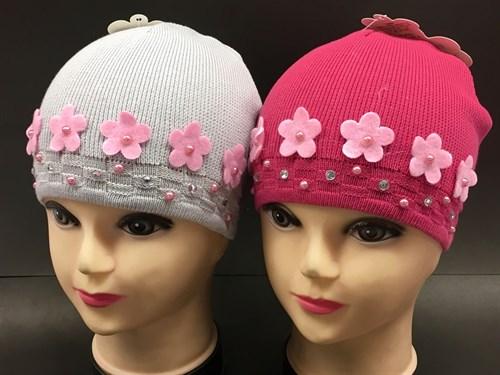 ANPA модель C 13 шапка одинарная вязка (р.48-50) цветы - фото 7995