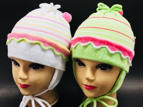 GRANS шапка для девочки одинарная вязка (р.46-48) с узелком - фото 8110